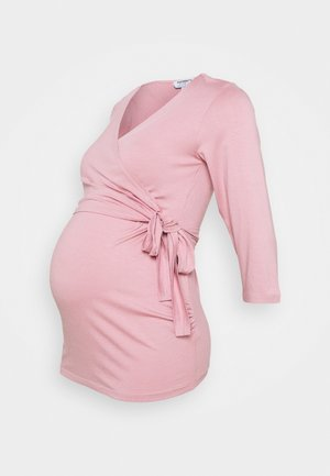 3/4 SLEEVE BALLET WRAP - Long sleeved top - blush