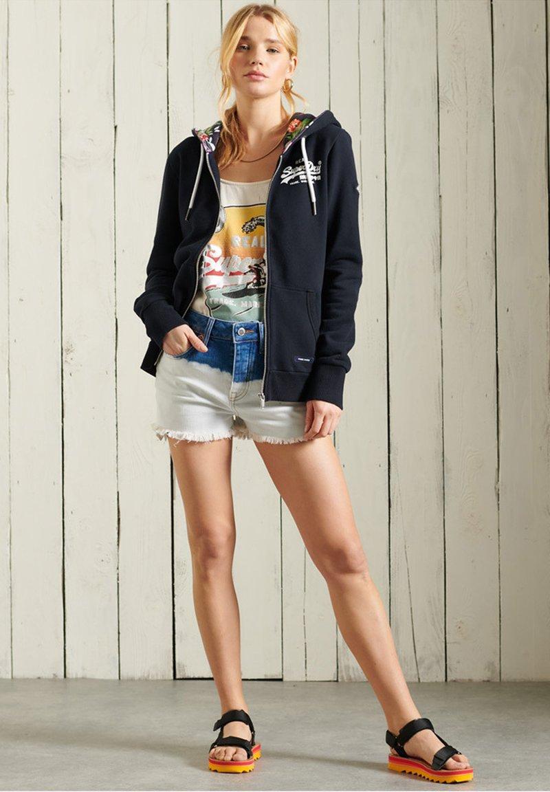Superdry - VINTAGE LOGO - Zip-up sweatshirt - dark blue