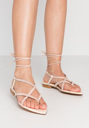 T-bar sandals - almendra