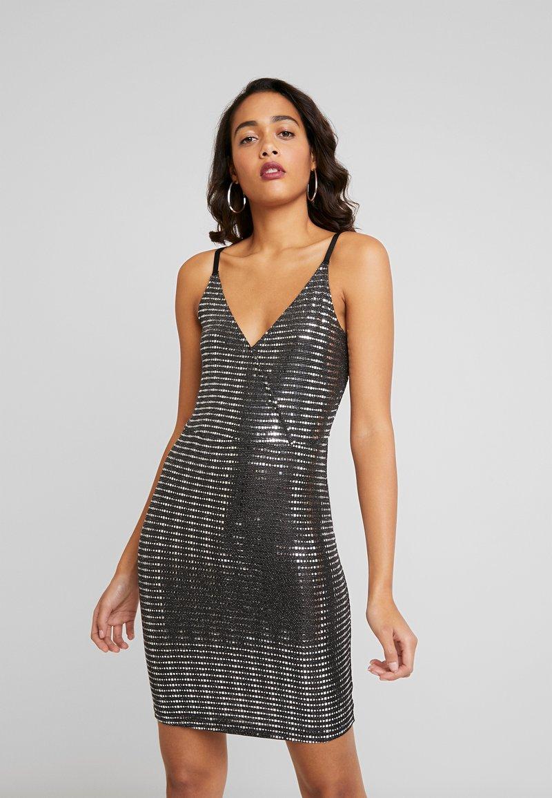 JDY - Robe de soirée - black/silver