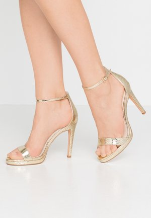 JANNA - High heeled sandals - gold