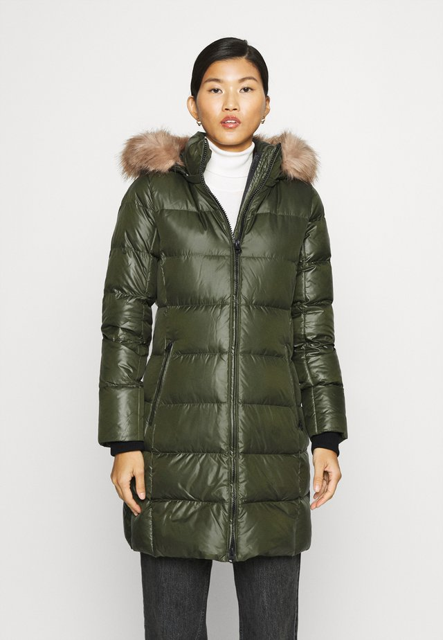 ESSENTIAL REAL COAT - Down coat - dark olive