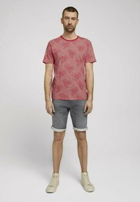 TOM TAILOR - Print T-shirt - plain red white stripe - 1