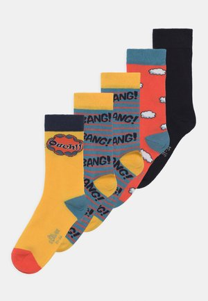 ONLINE JUNIOR COMIC FRUIT 5 PACK  - Socks - yellow/blue-grey/orange