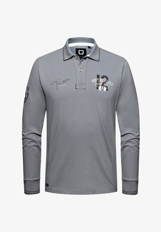 Polo shirt - washed grey