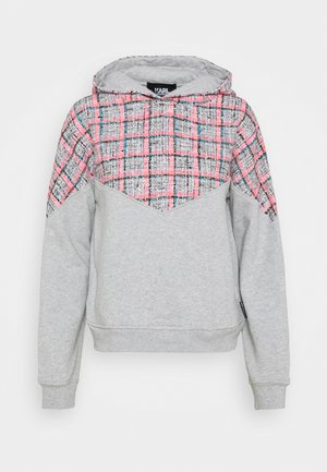 MIX HOODIE - Sweatshirt - grey melange