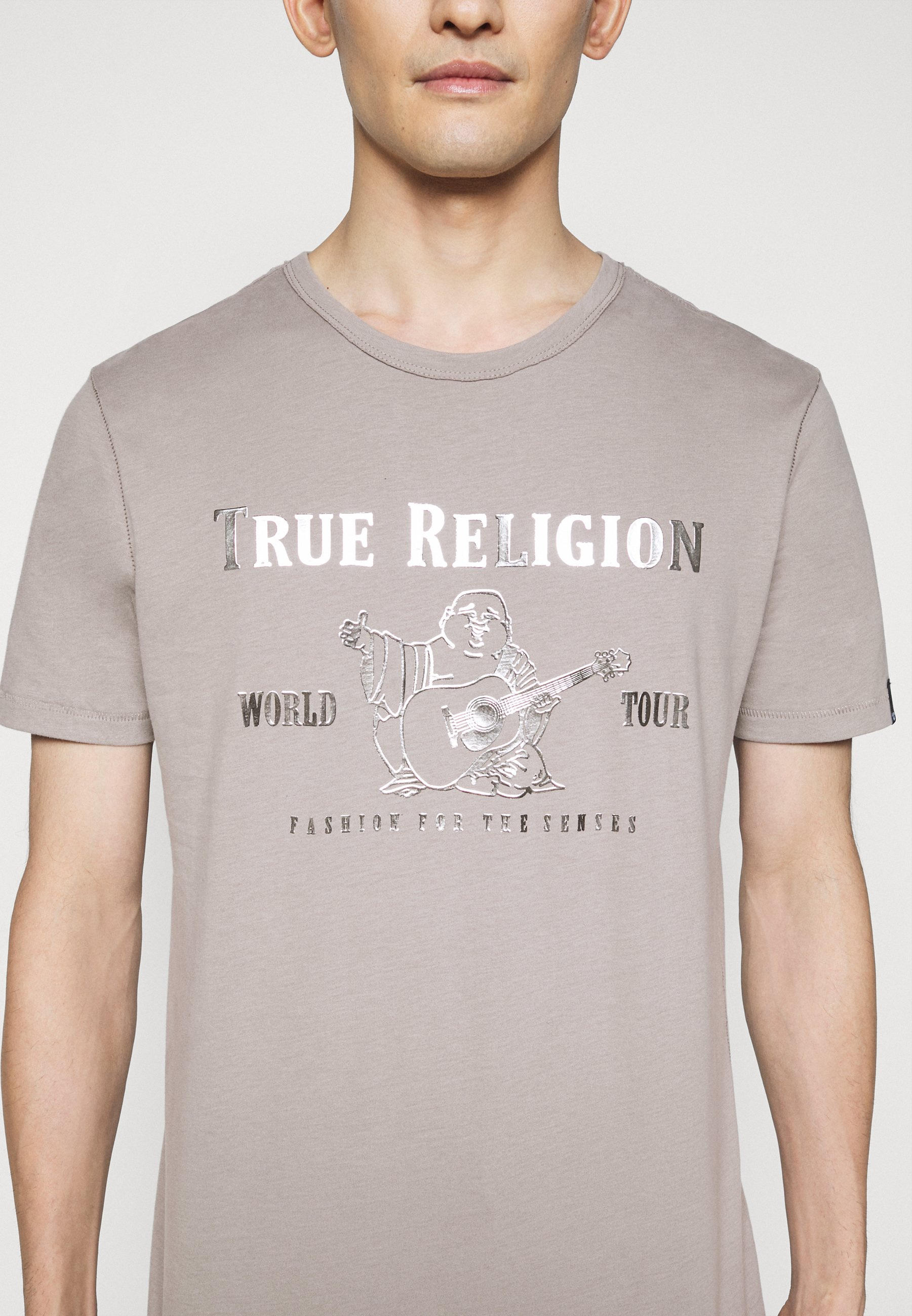 True Religion CORE LOGO TEE - Print T-shirt - grey FxYgF