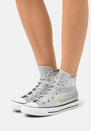 CHUCK TAYLOR ALL STAR GLITTER PATCH - High-top trainers - ash stone/black/white