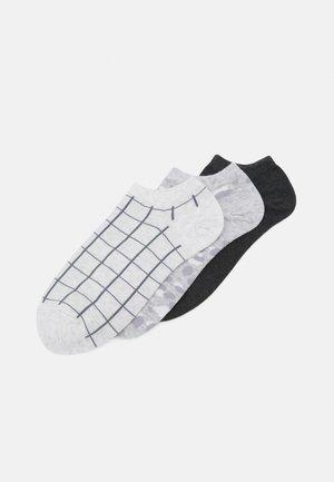 ANKLE 3 PACK - Socks - neutral grid plaid