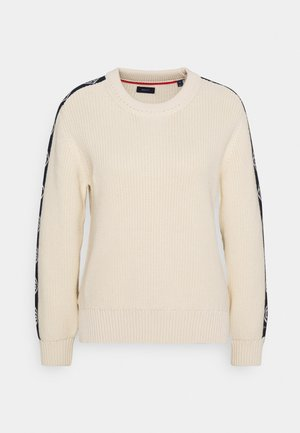 DETAIL SLEEVE CREWNECK - Pullover - cream