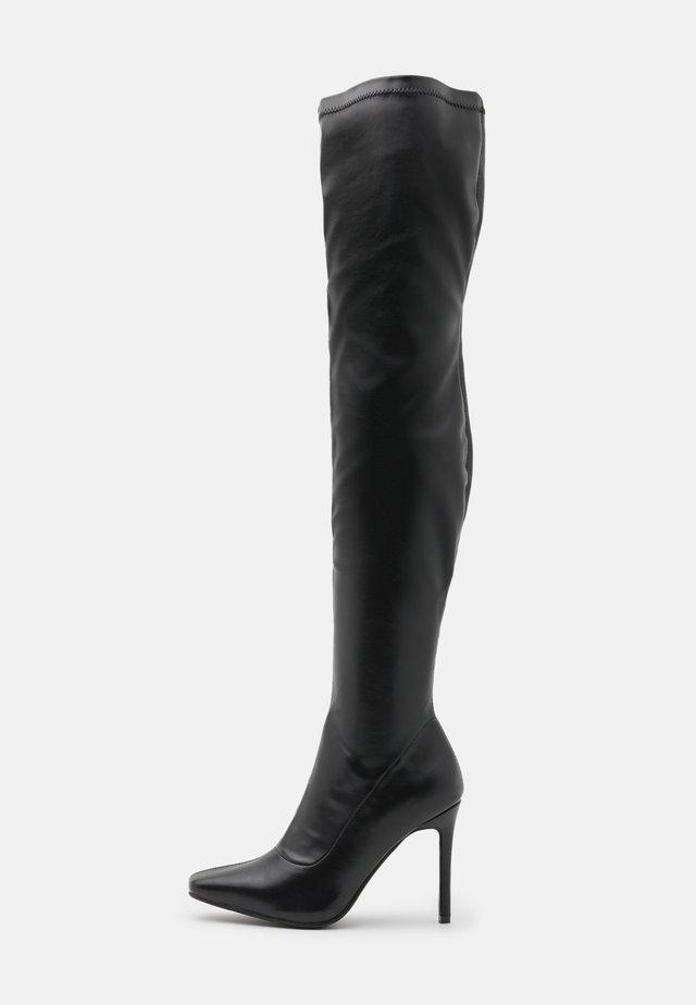 RUBIE - Laarzen met hoge hak - black