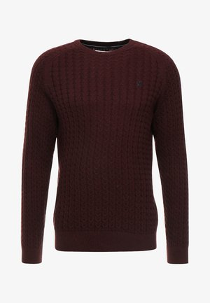 Strickpullover - mottled bordeaux