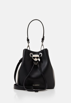 IKONIK BUCKET BAG - Handbag - black