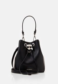 KARL LAGERFELD - IKONIK BUCKET BAG - Sac à main - black - 1