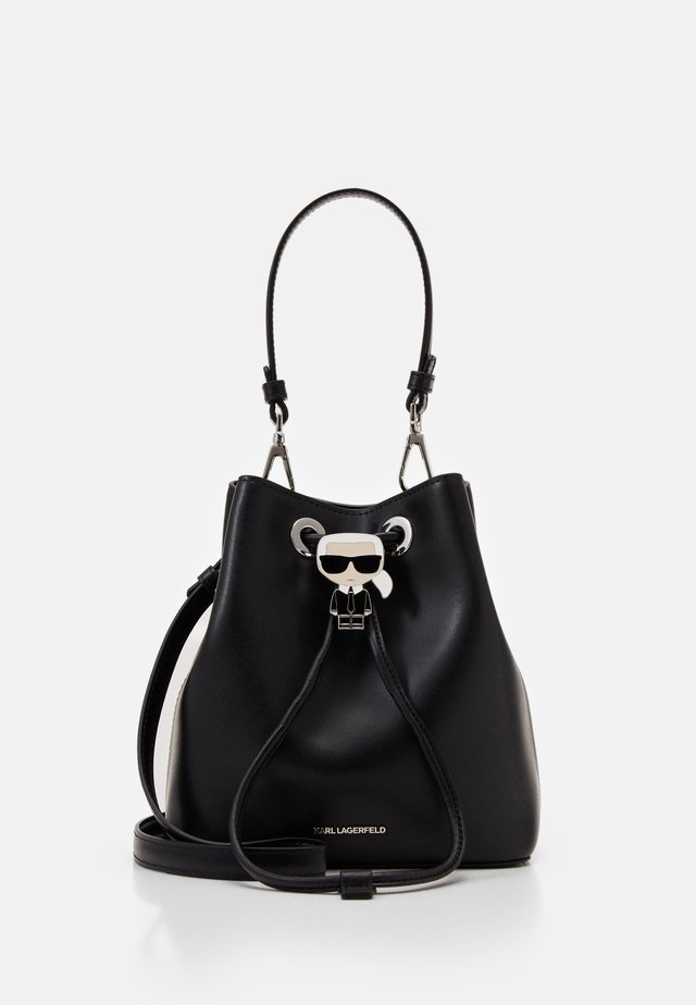 IKONIK BUCKET BAG - Torebka - black