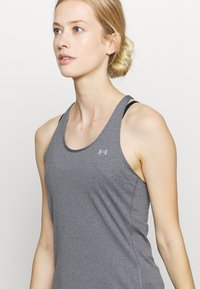 Under Armour - RACER TANK - Camiseta de deporte - pitch gray light heather - 4