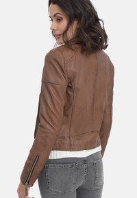 Oakwood - SALOME - Leather jacket - cognac - 1