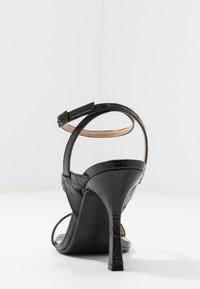Dune London - MONTEREY  - Sandály na vysokém podpatku - black - 5