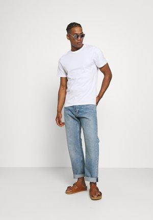ESSENTIAL TEE 3 PACK - T-shirt basique - white/black/light grey marle