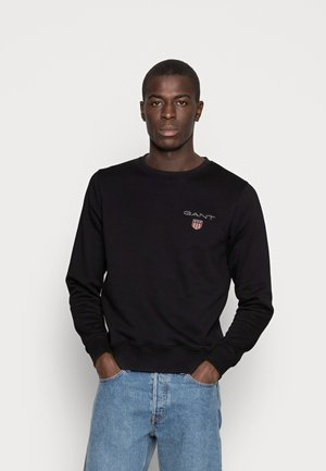 MEDIUM SHIELD CNECK - Sweatshirt - black