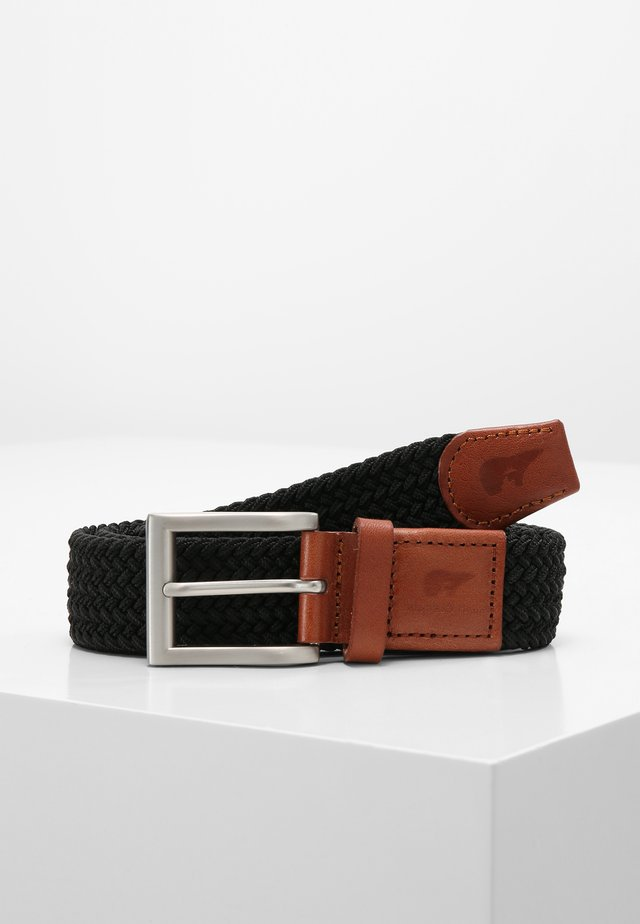CLASSIC - Braided belt - black