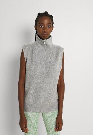 LENA VEST - Jumper - light grey melange