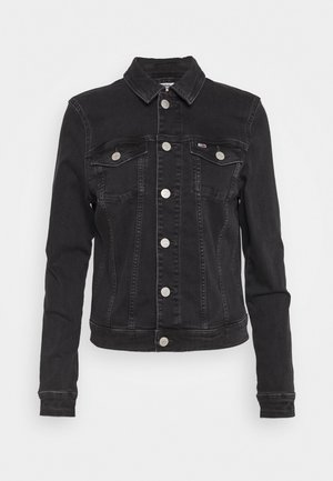VIVIANNE SLIM TRUCKER - Denim jacket - bird black stretch