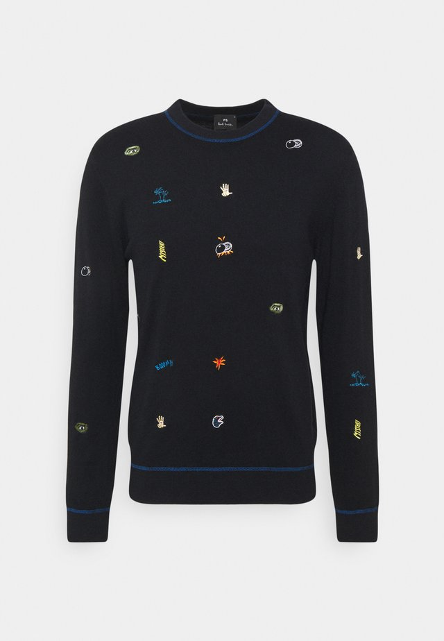 MENS CREW NECK - Strickpullover - black