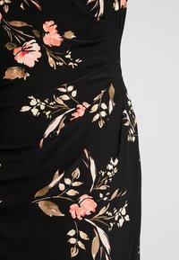 Lauren Ralph Lauren Woman - NOVELLINA CAP SLEEVE DAY DRESS - Jersey dress - black/pink/multi - 6