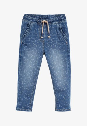 FLORAL FRILL - Relaxed fit jeans - blue