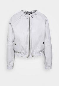 LIGHTWEIGHT JACKET - Leather jacket - grey