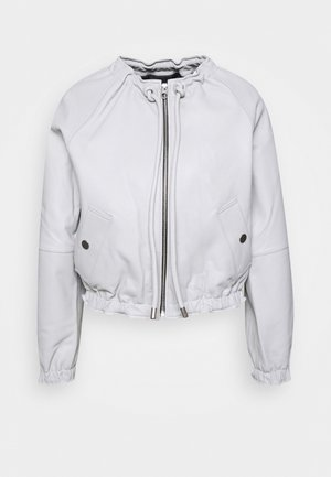 LIGHTWEIGHT JACKET - Leather jacket - grey