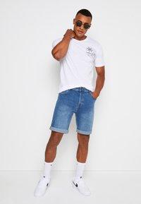 Denim Project - LIGHT DESTROY - Denim shorts - sicily blue - 1