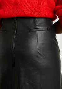 Lost Ink Plus - SKIRT WITH POCKETS - A-line skirt - black - 5