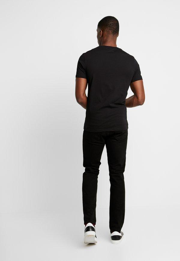 Pier One T-shirt z nadrukiem - black/czarny Odzież Męska TURA