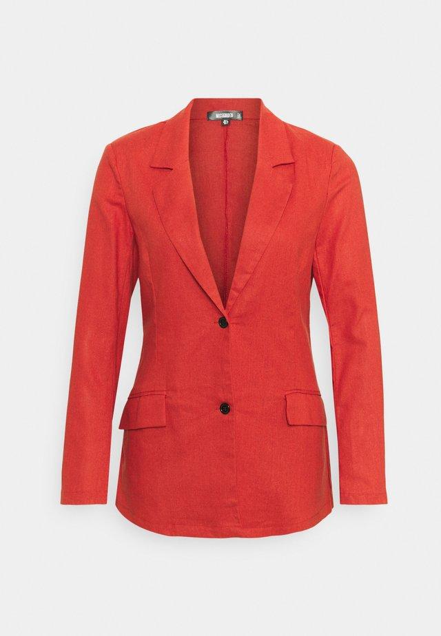BUTTON UP - Blazer - red