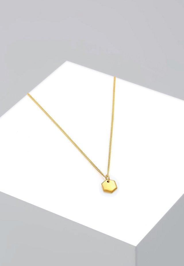 HEXAGON - Kaulakoru - gold-coloured