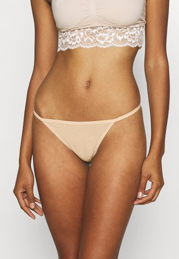 NEW STRING THONG SOLID 3 PACK - Thong - true black/natural nude/white