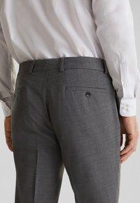 Esprit Collection - ACTIVE - Suit trousers - dark grey - 4