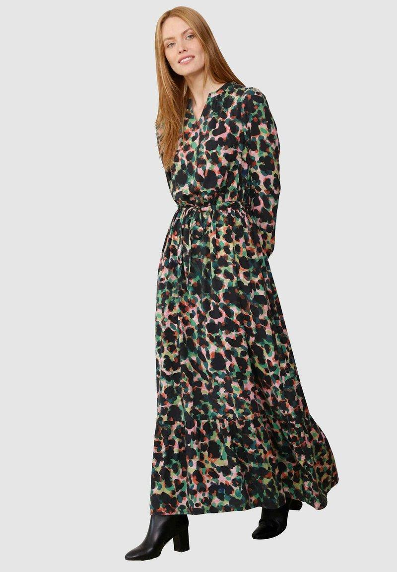 Laura Kent - KLEID - Maxi dress - schwarz tannengrün
