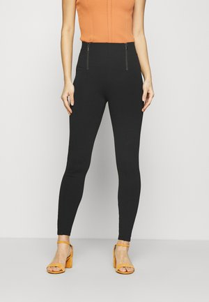 ZIP DETAIL - Leggings - black