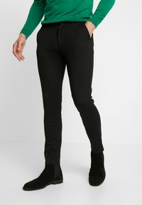 Denim Project - PONTE ROMA PLAIN - Pantaloni - black - 0