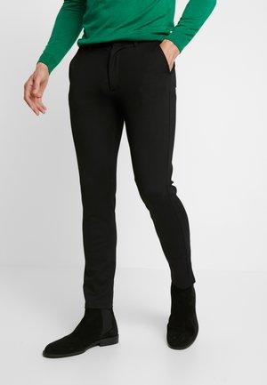 PONTE ROMA PLAIN - Pantaloni - black