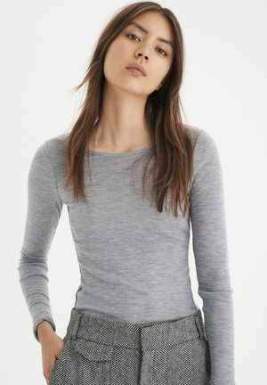 FANGIW  - Long sleeved top - light grey melange