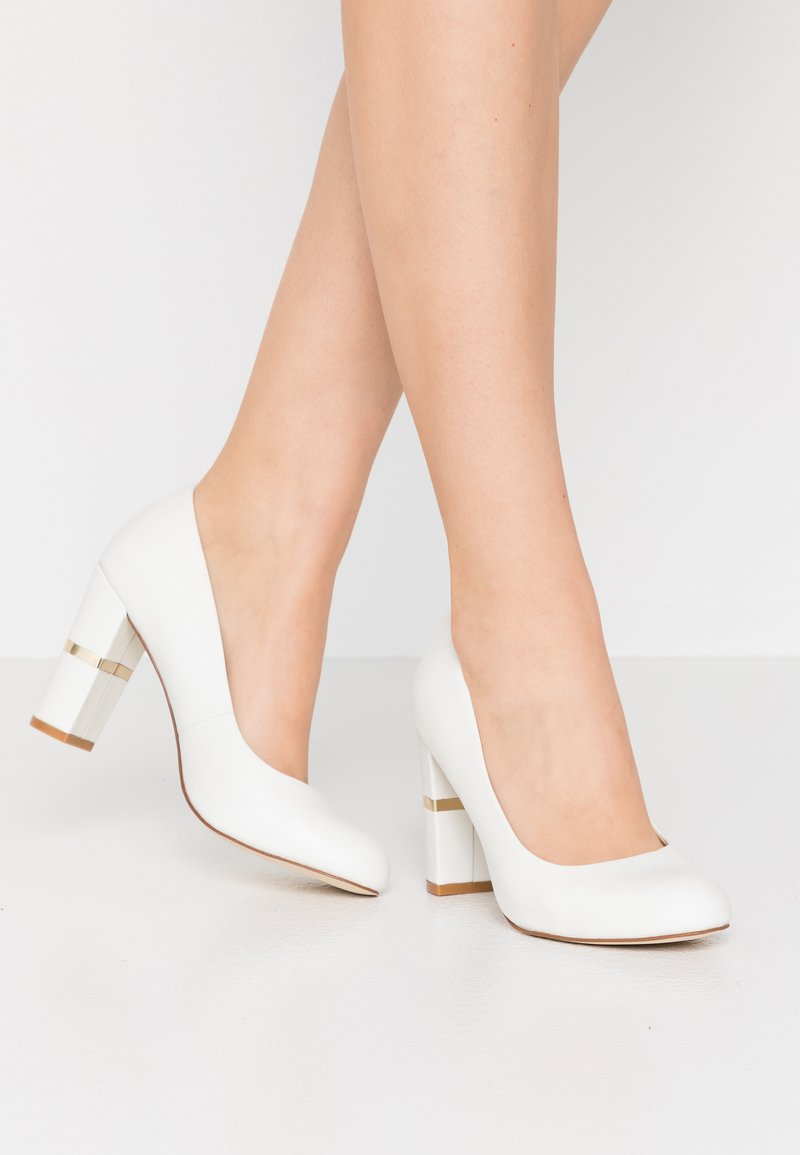 Anna Field - LEATHER PUMPS - Zapatos altos - white