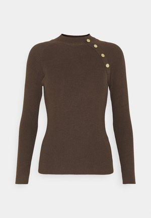 JDYPLUM BUTTON  - Jumper - chocolate brown