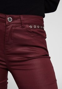 Morgan - HIGH WAISTED TROUSERS - Trousers - dark red - 2