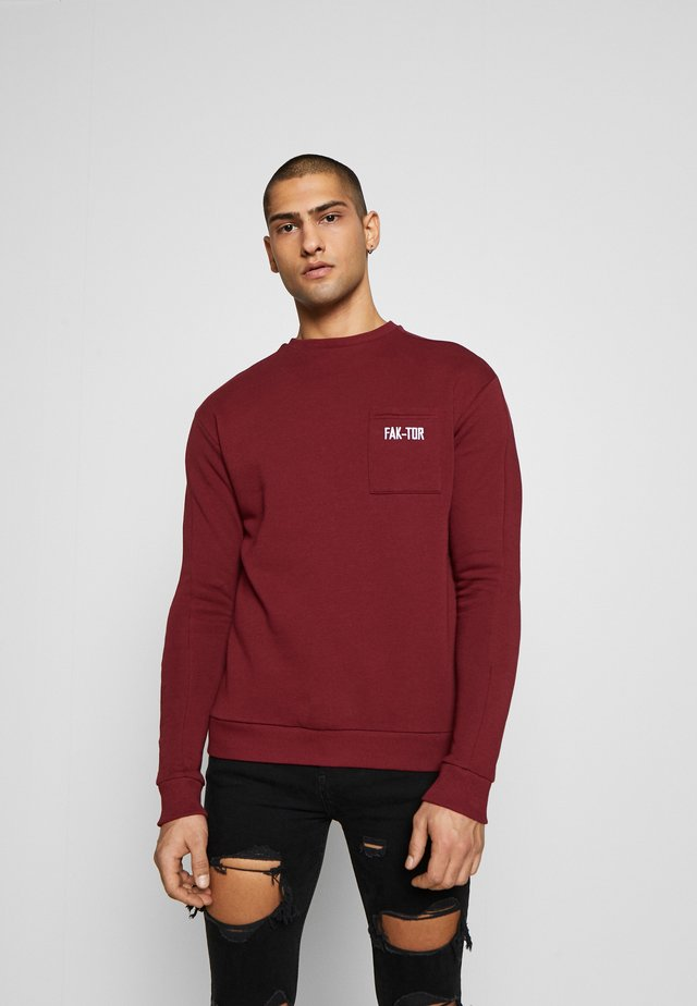 PAVO CREW - Sweater - burgundy
