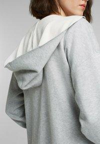 edc by Esprit - MIT KAPUZE - Cardigan - light grey - 3
