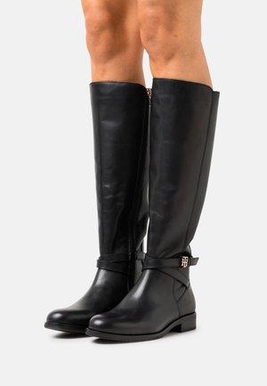 HARDWARE ON BELT LONGBOOT - Boots - black